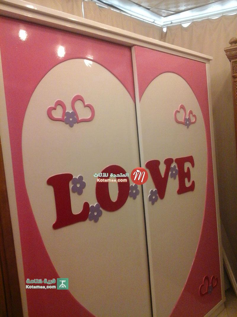 غرف نوم اطفال love جديدة (1)